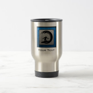 Brushed Metal look Surfing Travel Mug