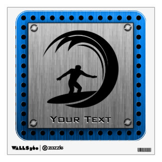 Brushed Metal look Surfing Wall Decal