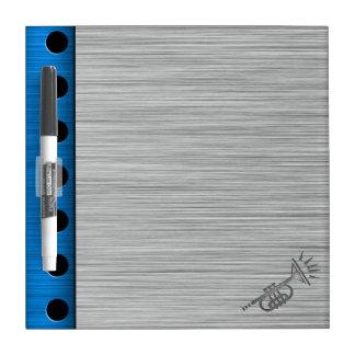 Brushed metal-look Trumpet Dry-Erase Board