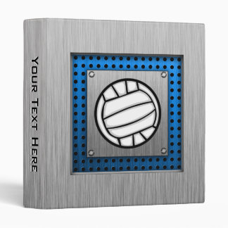 Brushed Metal look Volleyball 3 Ring Binder
