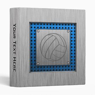 Brushed Metal-look Volleyball Binder