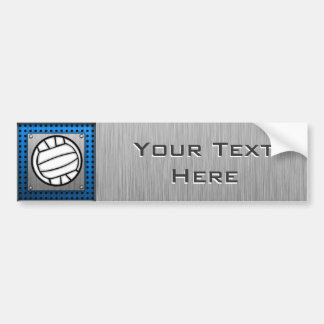 Brushed Metal look Volleyball Bumper Sticker