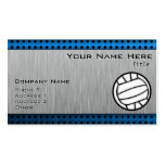 Brushed Metal look Volleyball Business Card Templates
