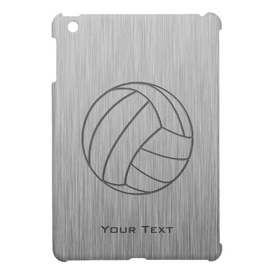 Brushed Metal-look Volleyball Case For The iPad Mini
