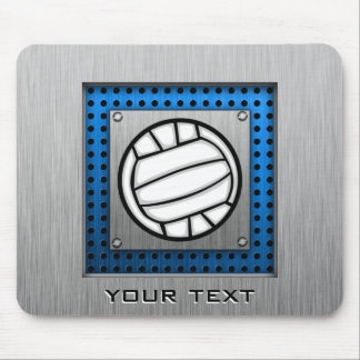 Brushed Metal look Volleyball Mouse Pad