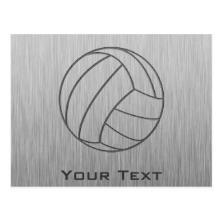 Brushed Metal-look Volleyball Postcard