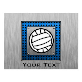 Brushed Metal look Volleyball Postcard