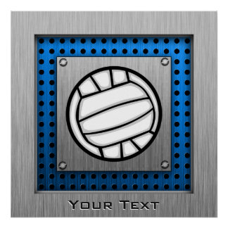 Brushed Metal look Volleyball Poster
