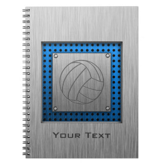 Brushed Metal-look Volleyball Spiral Notebook