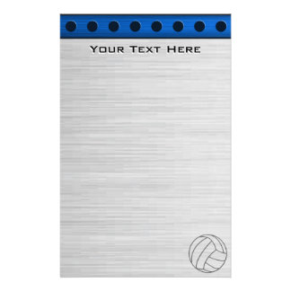 Brushed Metal-look Volleyball Stationery
