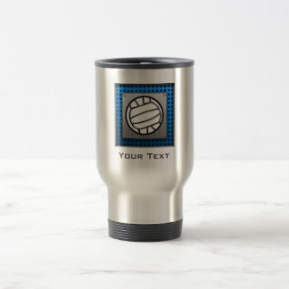 Brushed Metal look Volleyball Travel Mug