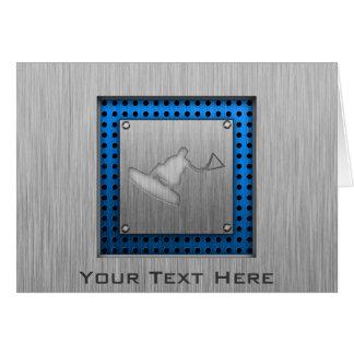 Brushed Metal-look Wakeboarder Card