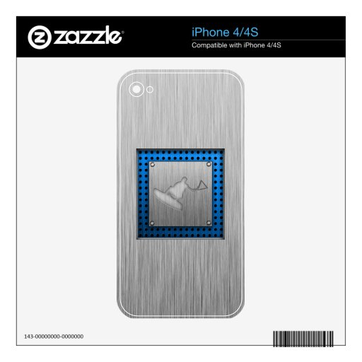 Brushed Metal-look Wakeboarder Skins For The iPhone 4