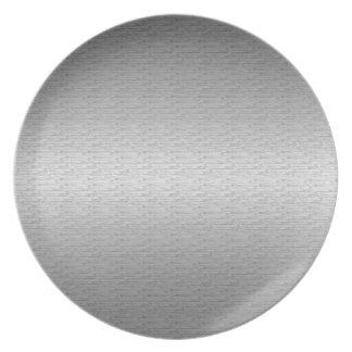 Brushed Metal Melamine Plate