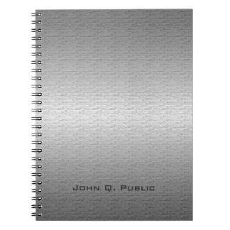 Brushed Metal Notebook