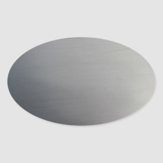 Brushed Metal Oval Sticker