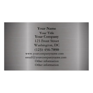 Brushed Metal Silver Business Card Templates