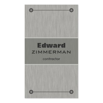 Brushed Metal: Silver Textured Business Card