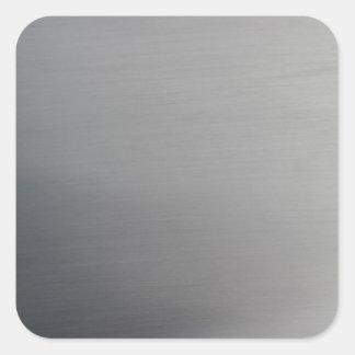 Brushed Metal Square Sticker