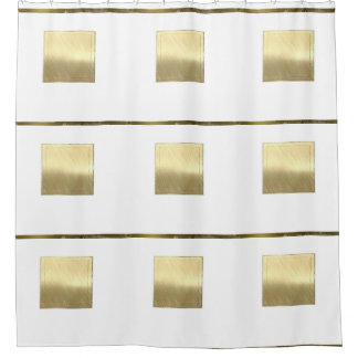 Brushed Metal Squares by Leslie Harlow Shower Curtain