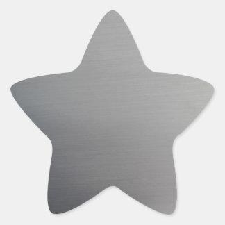 Brushed Metal Star Sticker
