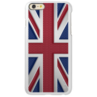 Brushed Metal Style Union Jack Incipio Feather® Shine iPhone 6 Plus Case