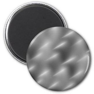 brushed metal swirls 2 inch round magnet