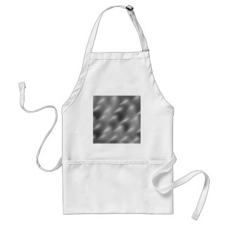 brushed metal swirls adult apron