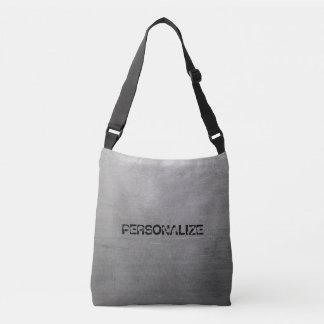 Brushed Metal Texture Crossbody Bag