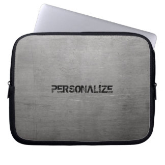 Brushed Metal Texture Laptop Sleeve