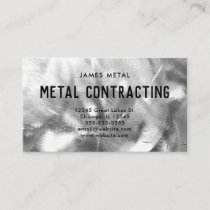 Brushed Metal Texture Photo Business Card