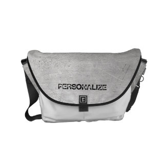 Brushed Metal Texture Small Messenger Bag