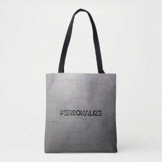 Brushed Metal Texture Tote Bag