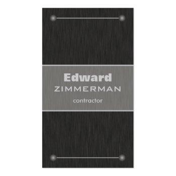 Brushed Metal: Titanium Textured Business Card
