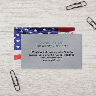 Usa American Flag Business Cards Zazzle