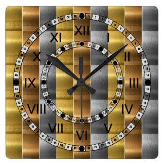 Brushed Metal Wall Clocks Zazzle