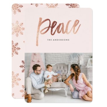 Christmas Themed Brushed Peace Card