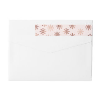 Brushed Peace Rose Gold Holiday Wrap Labels