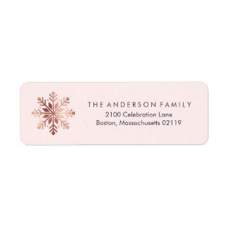 Brushed Peace Rose Gold Return Address Label