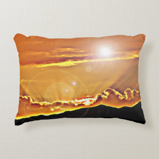 Brushed Polyester Accent Pillow - Lens Flare Cloud