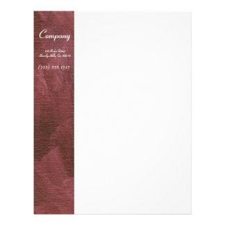 Brushed Purple Canvas Letterhead
