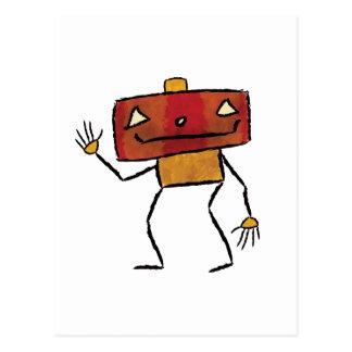 Brushed Robots - Vol 2: Jackbot Postcard