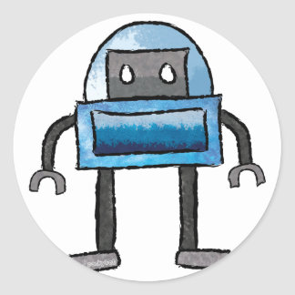 Brushed Robots - Vol 3: Frostybot Classic Round Sticker