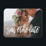 "Brushed Save the Date Magnet<br><div class=""desc"">Gift your guests with a Save the Date Magnet to showcase on the refrigerator leading up to your big day!  