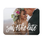 Brushed Save the Date Magnet<br><div class='desc'>Gift your guests with a Save the Date Magnet to showcase on the refrigerator leading up to your big day!    All photography is displayed as a sample only and is not for resale. This product is only intended to be purchased once sample photos are replaced with your own images.</div>