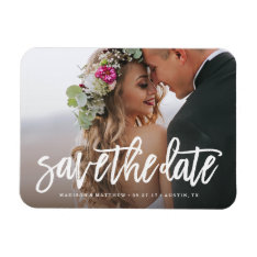 Brushed Save The Date Magnet at Zazzle