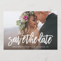 Brushed Save the Date Overlay