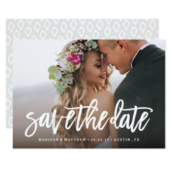 Brushed Save The Date Overlay Card by FINEandDANDY at Zazzle