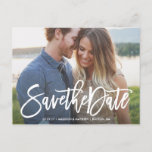 """Brushed Save the Date Postcard<br><div class=""""desc"""">Photographs provided courtesy of &#169;Blush Photography</div>"""