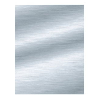 Brushed Silver Background Customized Letterhead
